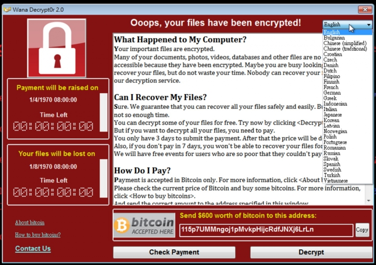 0勒索病毒来袭,kb4012215更新程式与解毒程式下载安装 – ms17-010
