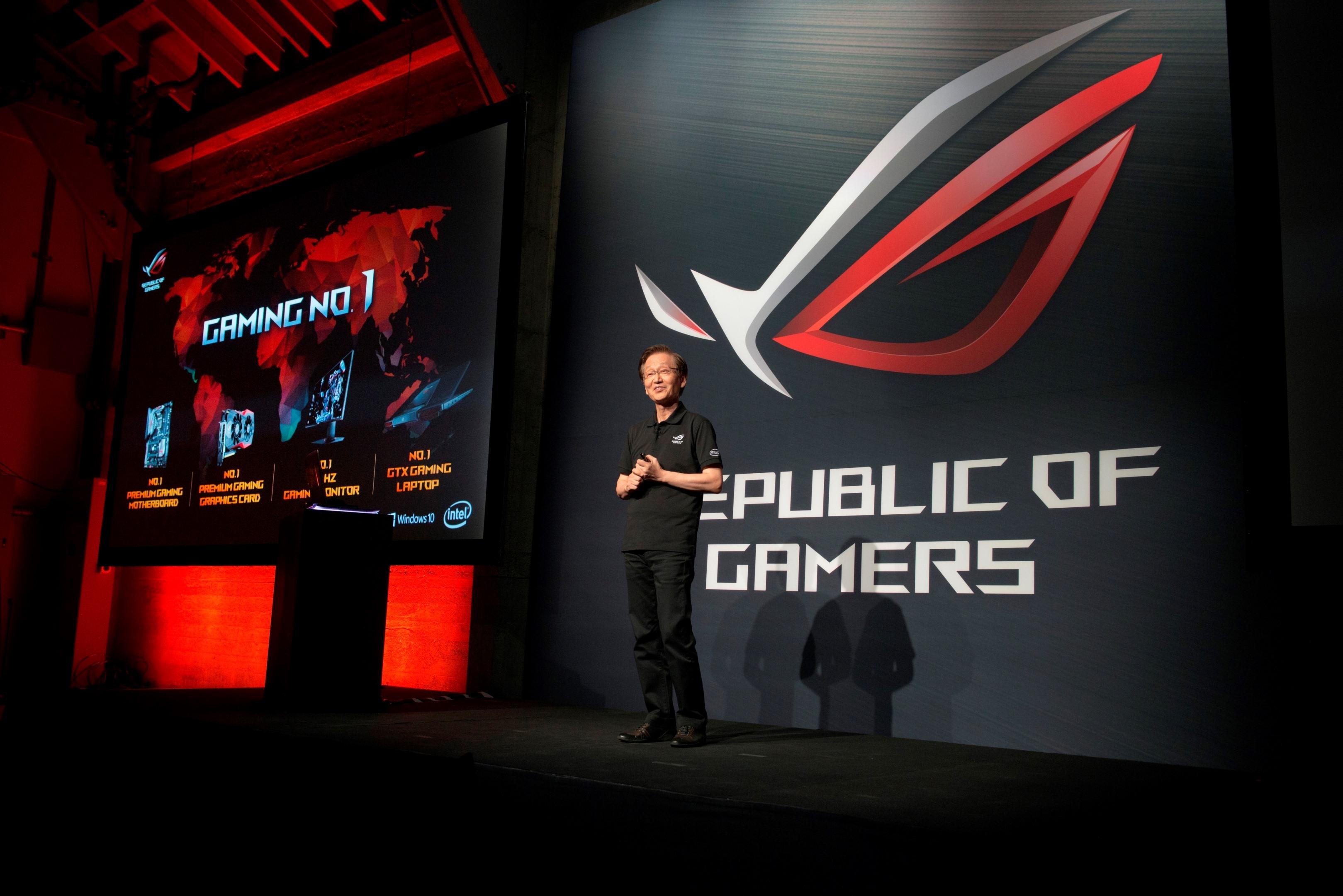 华硕董事长出席旧金山rog新品发表会暨玩家派对,发布多款最新电竞战备图片