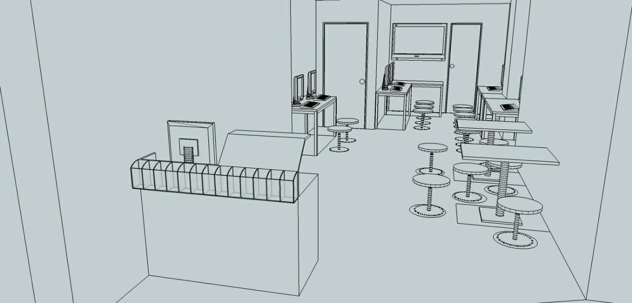 室内设计商业空间设计绘图工作站