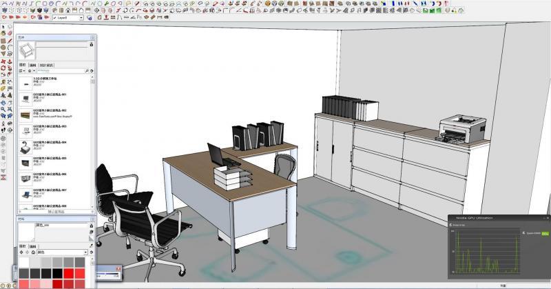室内设计商业空间设计绘图工作站,sketchup pro 2015